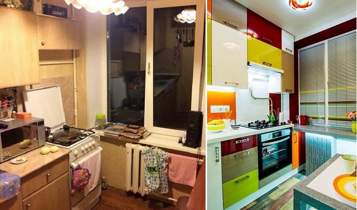 Преображение кухни в «хрущевке» площадью всего 6 кв. метров