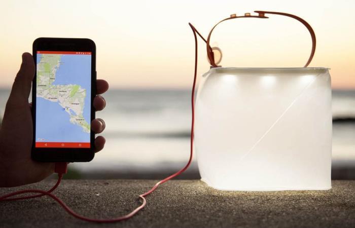 Банка-фонарик, которая зарядит смартфон в любом месте