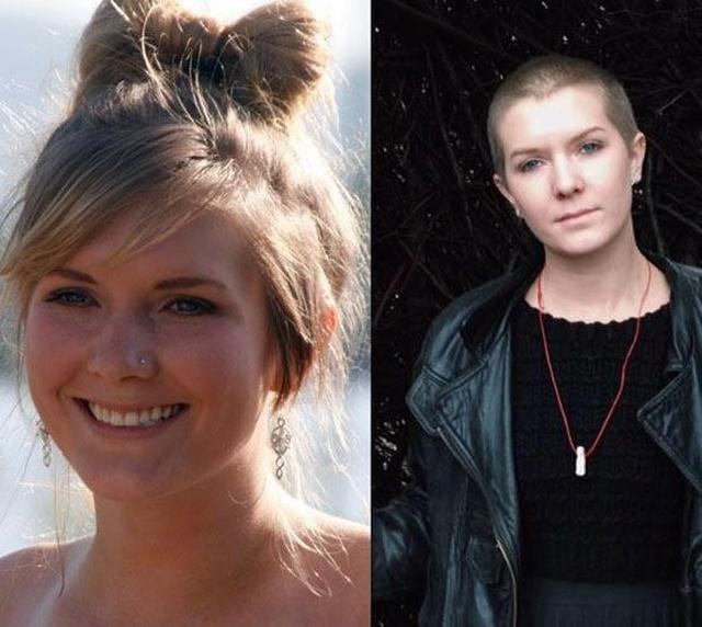 """Фото девушек, которые стали феминистками - """"до и после"""""""