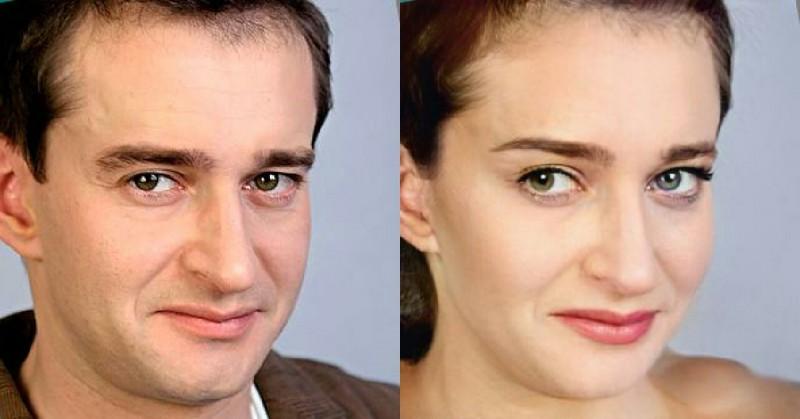 Российские актеры в женских образах
