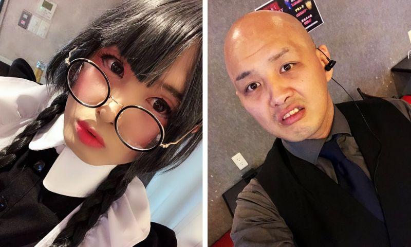 Японские косплееры в образе и в обычной жизни